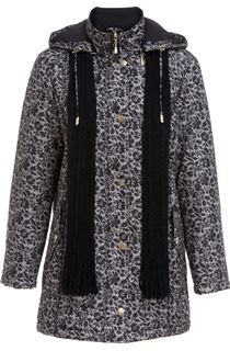 Anna Rose Floral Printed Scarf Coat