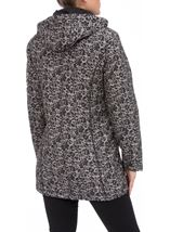 Anna Rose Floral Printed Scarf Coat Taupe/Black - Gallery Image 3