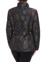 Anna Rose Floral Printed Padded Coat Navy Floral - Gallery Image 3