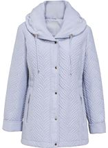 Anna Rose Shawl Collar Coat Chalk Blue - Gallery Image 1