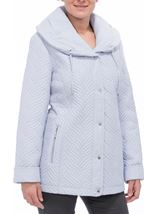 Anna Rose Shawl Collar Coat Chalk Blue - Gallery Image 2