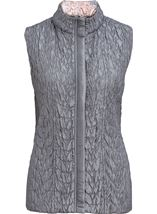 Anna Rose Reversible Gilet Grey - Gallery Image 8