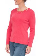 Anna Rose Long Sleeve Embellished Top Red - Gallery Image 2