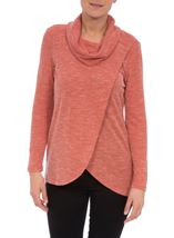 Cowl Neck Wrap Over Top