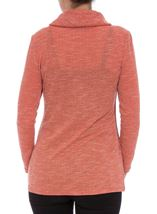 Cowl Neck Wrap Over Top Rust - Gallery Image 2