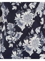 Anna Rose Floral Embellished Wrap Effect Top Navy/White - Gallery Image 3