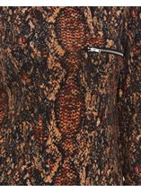 Snake Pattern Top With Chiffon Detail Black/Rust - Gallery Image 4