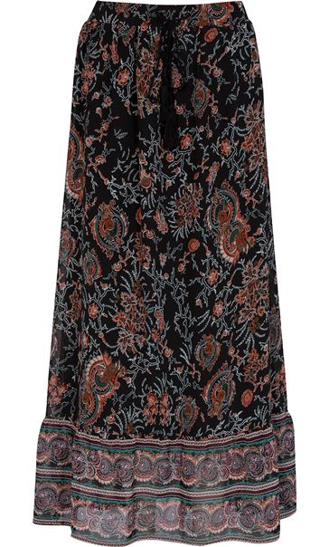 provide plenty of fine quality super cute Printed Georgette Pull On Maxi Skirt -