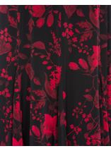 Anna Rose Floral Flare Panel Skirt Black/Red/Blue - Gallery Image 3