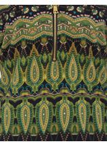 Printed Brushed Knit Long Sleeve Tunic Lime/Navy - Gallery Image 4