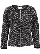Anna Rose Textured Zip Jacket Black/Grey - Gallery Image 1