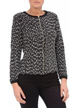 Anna Rose Textured Zip Jacket Black/Grey - Gallery Image 2