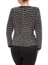 Anna Rose Textured Zip Jacket Black/Grey - Gallery Image 3