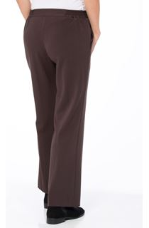 Anna Rose Straight Leg Trousers 27 Inch - Brown