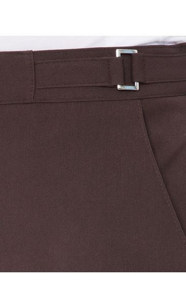 Anna Rose Straight Leg Trousers 27 Inch Brown - Gallery Image 3