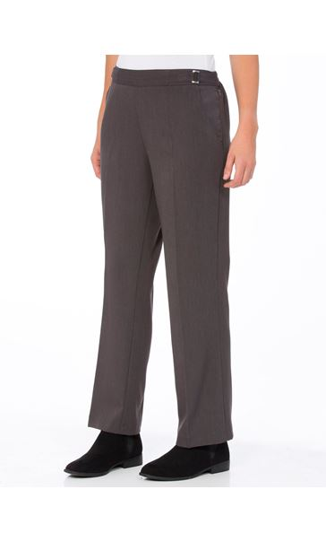 Anna Rose Straight Leg Trousers 27 Inch Charcoal