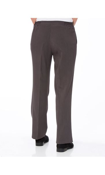 Anna Rose Straight Leg Trousers 27 Inch Charcoal - Gallery Image 2