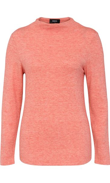 Lightweight Knitted Turtle Neck Top Rust