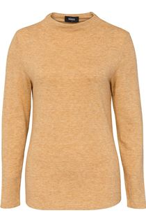 Lightweight Knitted Turtle Neck Top - Yellow