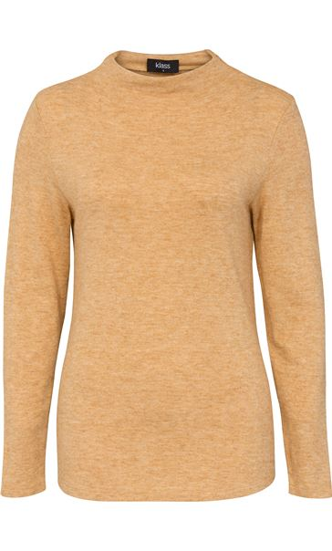 Lightweight Knitted Turtle Neck Top Mustard