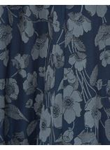 Anna Rose Floral Print Panelled Skirt Navy Floral - Gallery Image 4