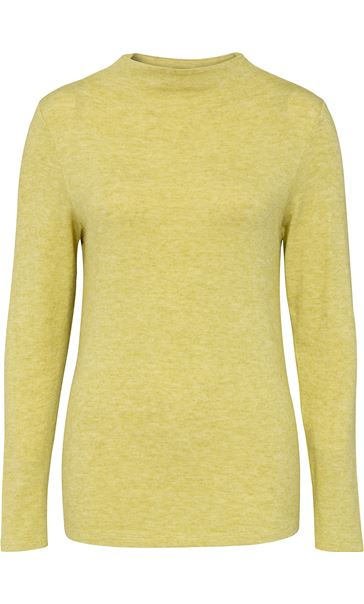 Lightweight Knitted Turtle Neck Top Bright Lime