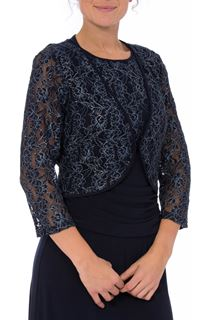 Floral Metallic Thread Lace Cover Up