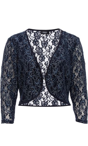 Floral Metallic Thread Lace Cover Up Midnight