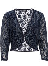 Floral Metallic Thread Lace Cover Up Midnight - Gallery Image 1