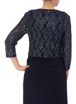 Floral Metallic Thread Lace Cover Up Midnight - Gallery Image 3