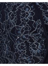 Floral Metallic Thread Lace Cover Up Midnight - Gallery Image 4