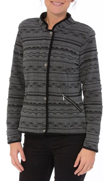Textured Unlined Jacket Black/Grey