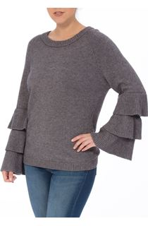 Tiered Long Sleeve Knit Top