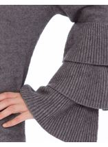 Tiered Long Sleeve Knit Top Grey Marl - Gallery Image 4