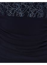 Drape Lace Overlay Floral Maxi Dress Midnight - Gallery Image 4