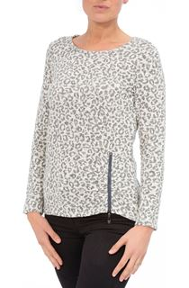 Long Sleeve Animal Print Knit Top