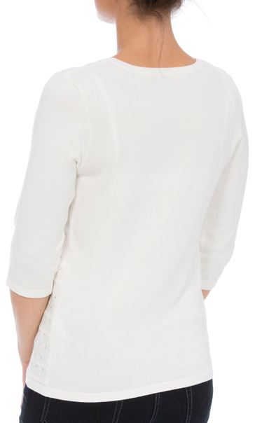 Anna Rose Embellished Knit Top Ivory - Gallery Image 2