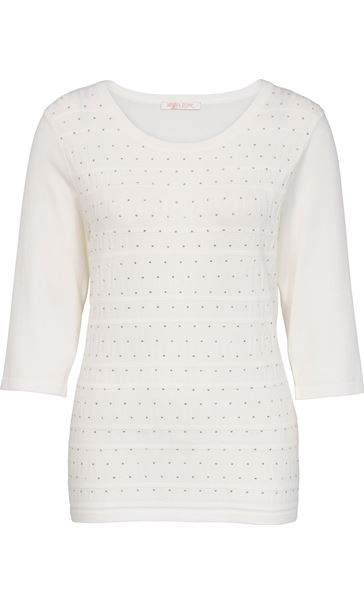 Anna Rose Embellished Knit Top Ivory - Gallery Image 4