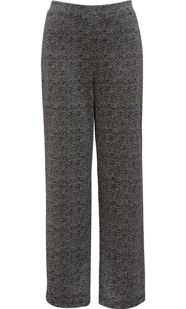 Monochrome Print Boot Cut Trousers Black/Grey