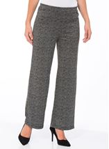 Monochrome Print Boot Cut Trousers Black/Grey - Gallery Image 2