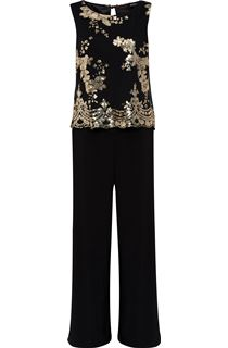 Sequin Mesh Layer Jumpsuit