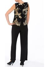Sequin Mesh Layer Jumpsuit Black - Gallery Image 3