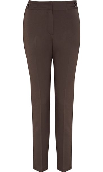 Narrow Leg Stretch Trousers Taupe