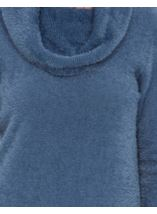 Cowl Neck Eyelash Knit Top Airforce - Gallery Image 4