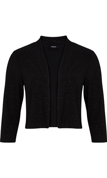 Open Front Sparkle Cover Up Black