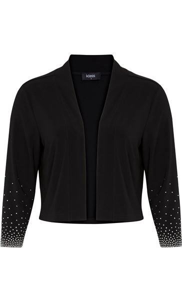 Embellished Cover Up With Sleeves Black