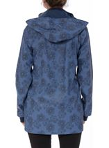 Anna Rose Hooded Floral Raincoat Navy/Mid Blue - Gallery Image 2