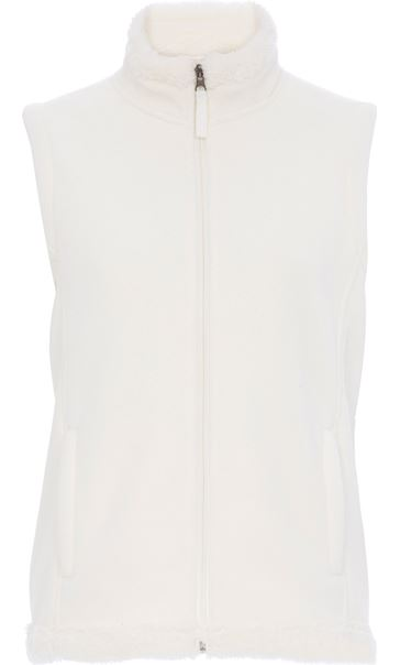 Anna Rose Fleece Gilet Ivory