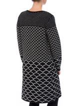Long Open Monochrome Knitted Cardigan Black - Gallery Image 3