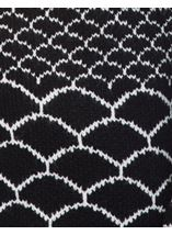Long Open Monochrome Knitted Cardigan Black - Gallery Image 4